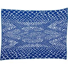 Snakeskin Royal Cobalt Blue Cotton Throw Blanket