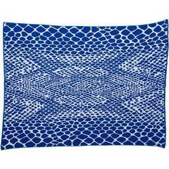 Snakeskin Royal Cobalt Blue Cotton Throw Blanket
