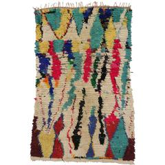 Vintage Berber Moroccan Rug with Contemporary Abstract Design, Azilal Rug