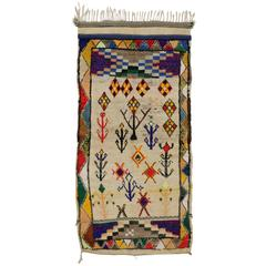 Boho Chic Vintage Berber Moroccan Azilal Rug with Modern Tribal Design