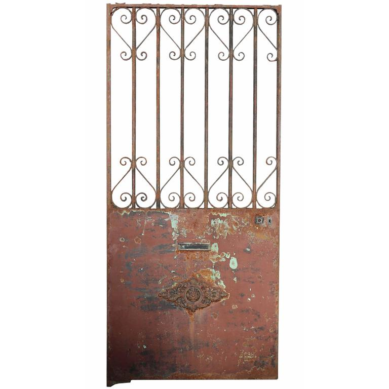 Antique french wrought iron side gate for sale at stdibs