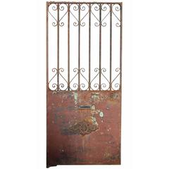 Antique French Wrought Iron Side Gate