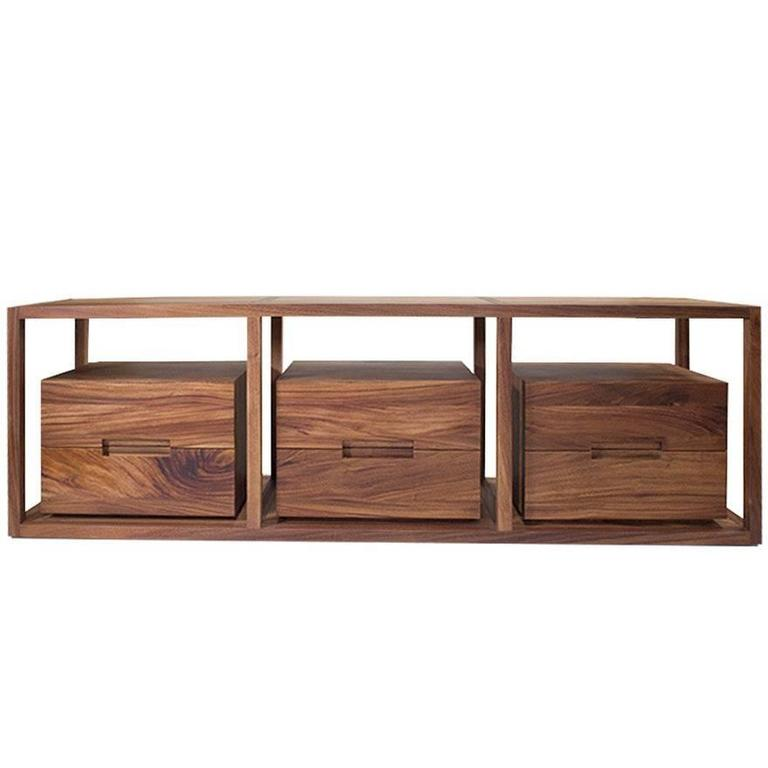 Contemporary Bodega Console, Cenicero and Conacaste Solid Wood by Labrica