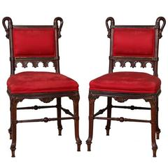 Pair of Aesthetic Movement Parlor Side Chairs