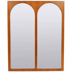 Arched Walnut Coliseum Mirror by T.H. Robsjohn Gibbings