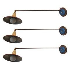 Three Large 1950s Italian Directional Lights
