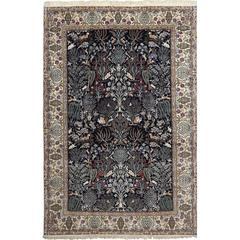 Tree of Life Design Vintage Nain Persian Rug