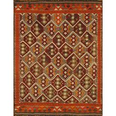 Beautifully Stylish Vintage Sumahk Rug
