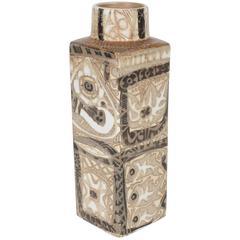 Mid-Century Modernist Ceramic Danish Vase with Geometric Designs, Nils Thorsson