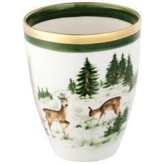 Black Forest German Porcelain Vase with Hunting Scene Sofina Boutique Kitzbuehel
