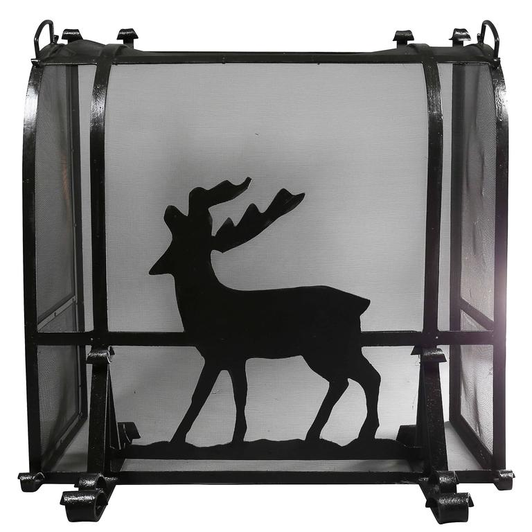 Arts and Crafts Wrought Iron Fireplace Screen For Sale
