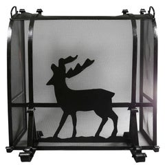 Arts and Crafts Wrought Iron Fireplace Screen