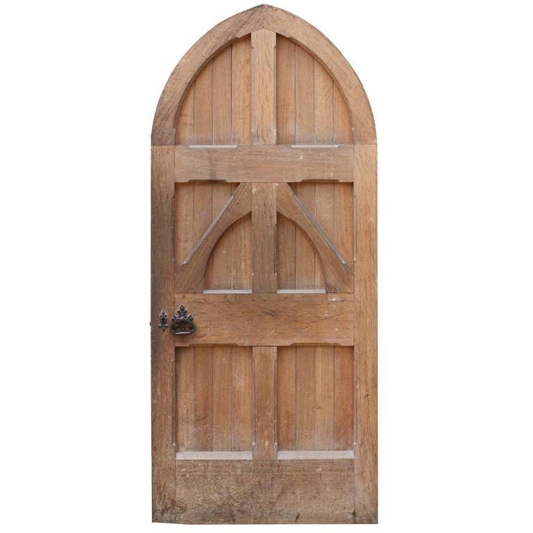Late 19th Century English Arched Oak Front Door At 1stdibs
