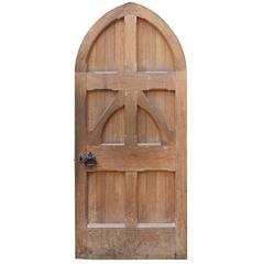 Late 19th Century English Arched Oak Front Door