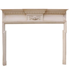 19th Century English Stripped Pine Fire Surround