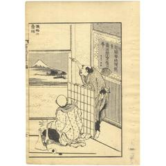100 Views of Mt. Fuji Hokusai 19 Century Ukiyo-E Japanese Woodblock Print