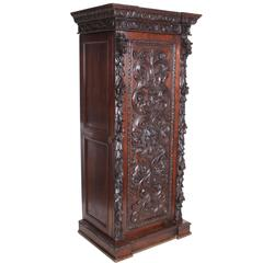 Carved Oak Hall Cupboard