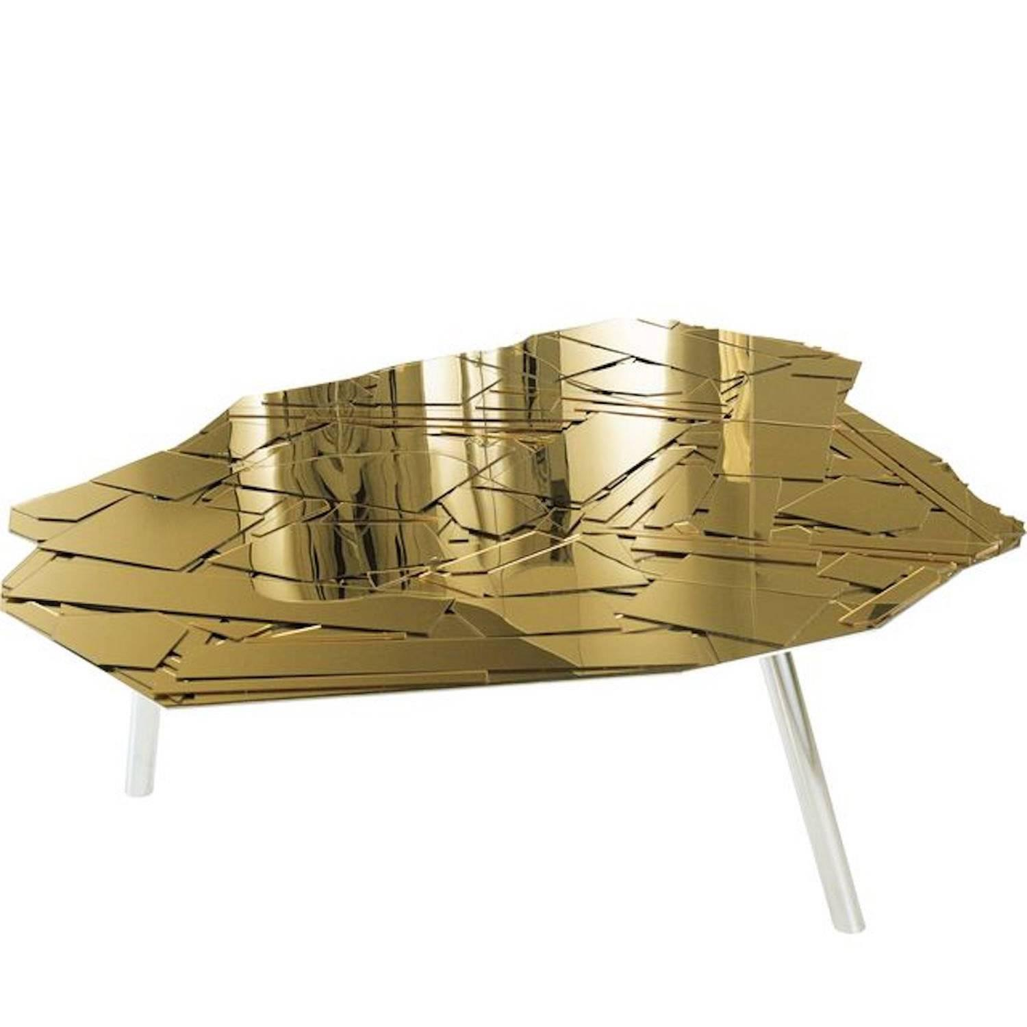 Edra Brasilia Coffee or Side Table in Colored Methacrylatea For