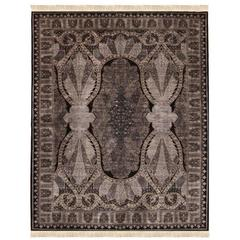 Unique Queen S Delight Silk Hand Knotted Turkish Rug