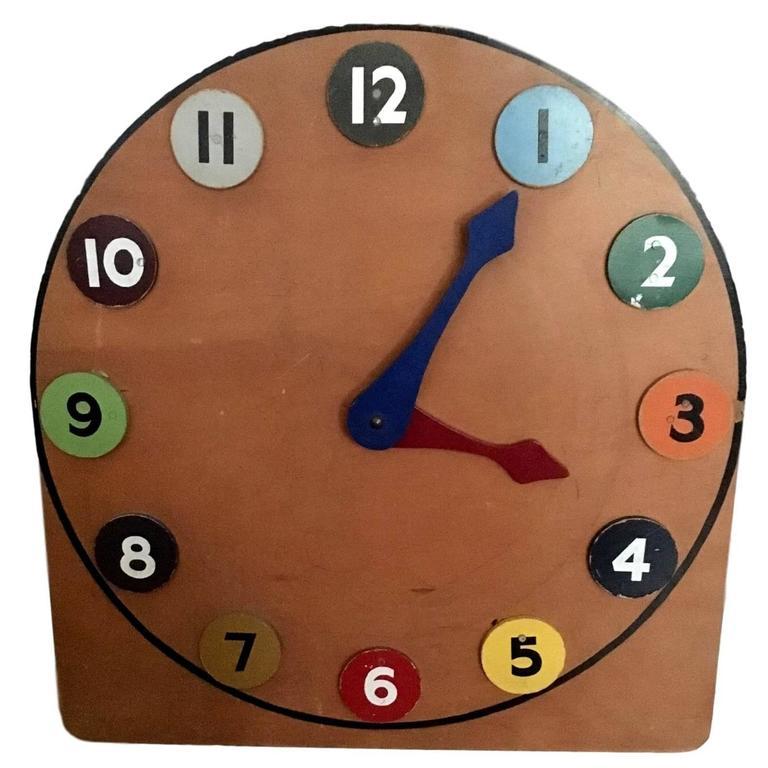 Elementary School Clock Teaching Aid