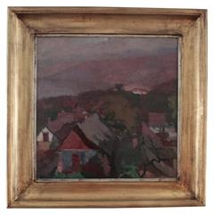 Arts and Crafts Period Landscape by Lajos Pogany