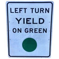 Large Vintage Los Angeles Street Sign