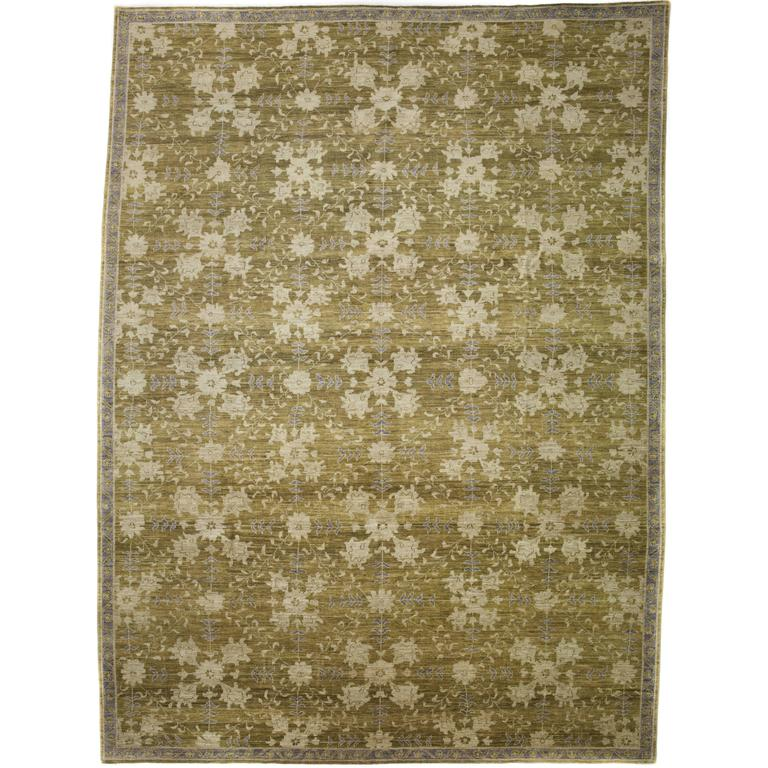 Oushak Rugs For Sale: Green Oushak Area Rug, Solo Rugs For Sale At 1stdibs