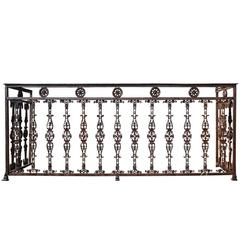 Important Wrought Iron and Cast Iron Balcony, circa 1820