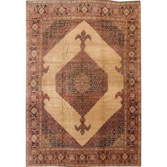 Highly Collectible Antique Tabriz Rug