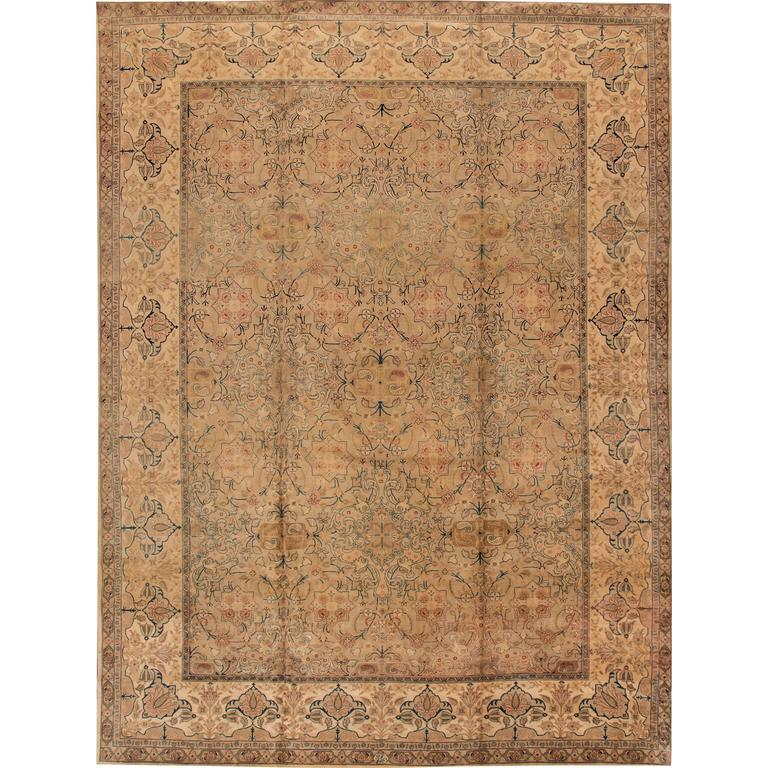 Lovely nice antique persian tabriz rug for sale at 1stdibs for Nice rugs for sale