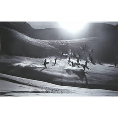 Ski Photography, Happy Skie, Alpine Ski Photograph, Image from the 1930's