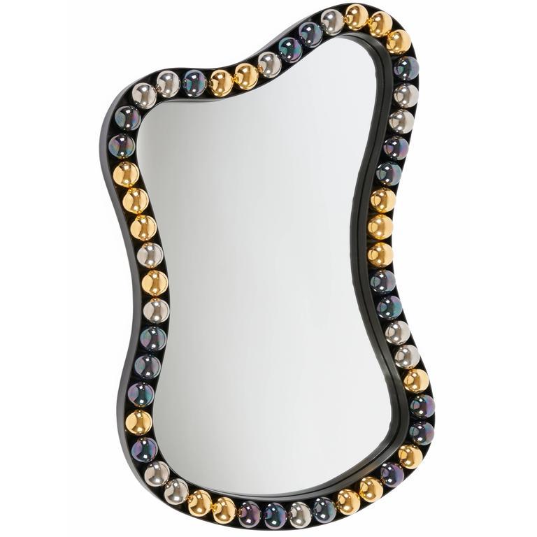 """Rang de Perles"" mirror by Elizabeth Garouste For Sale"