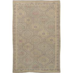 Beautifully Designed Vintage Sumahk Rug