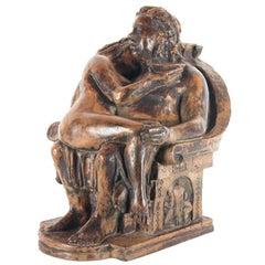 Beautiful Bronze Bacchus Figure, Artist Charles Dumernit, 21st Century