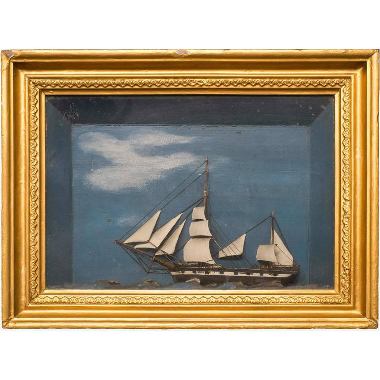 Diorama of a Sailing Ship