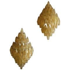Pair of Diamond-Shaped Wall-Sconces by Venini