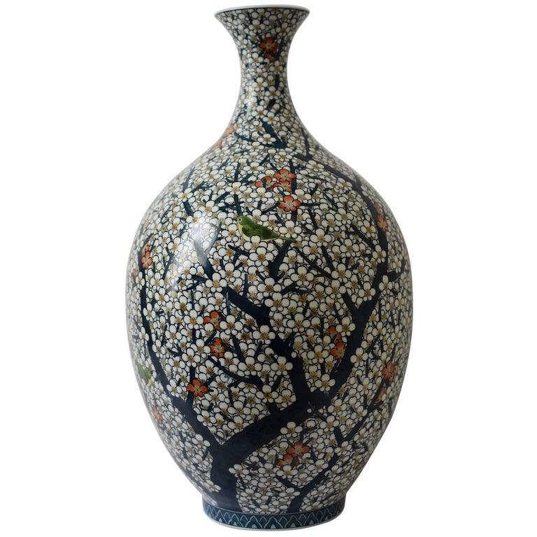 Decorative Large Japanese Porcelain Vase by Fujii Katsuma