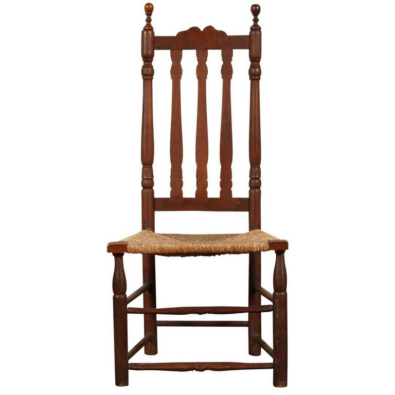 18th Century American Barrister Back Side Chair For Sale At 1stdibs