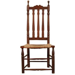 18th Century American Barrister Back Side Chair