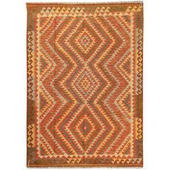 Beautifully Designed New Kilim Rug