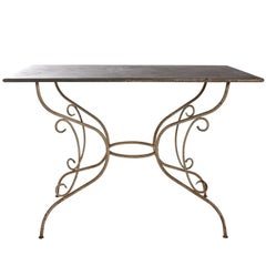 Iron and Steel Garden Table