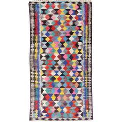 Beautifully Designed Vintage Kilim Rug
