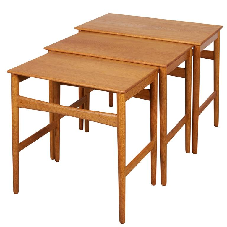 Hans Wegner Oak Nesting Tables 1