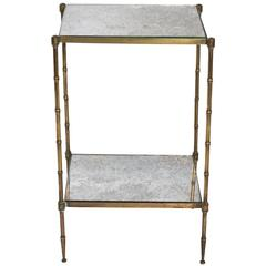 Petite Mirrored Side Table