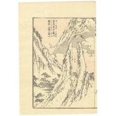 Hokusai 19 Century Ukiyo-e Japanese Woodblock Print Manga Landscape