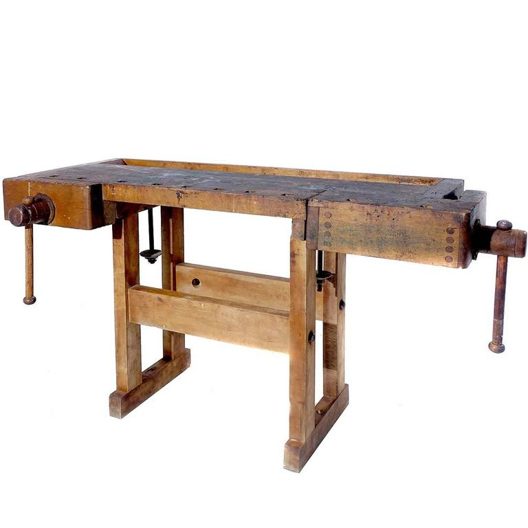 1800s Carpenters Workbench For Sale