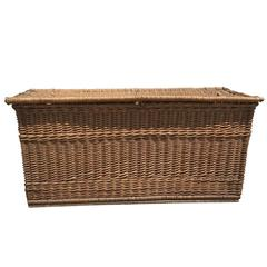 Early 20th Century Large Wicker Trunk