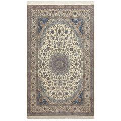 Ivory Vintage Nain Persian Rug
