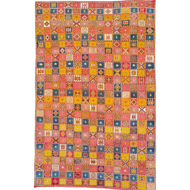 Vintage Moroccan Flat-Weave