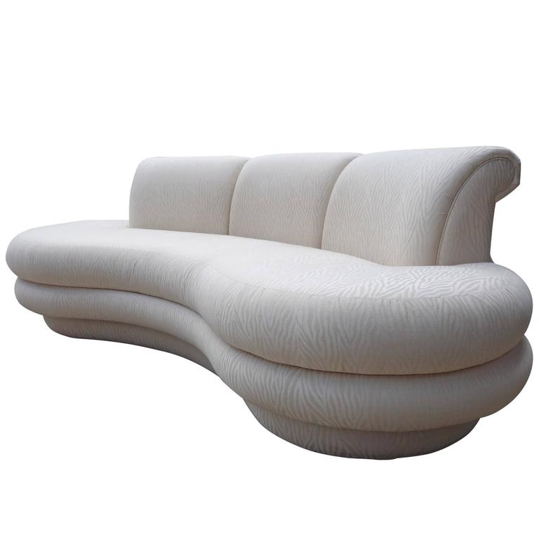 Adrian Pearsall Kidney Shaped / Curved Sofa For Comfort Designs For Sale
